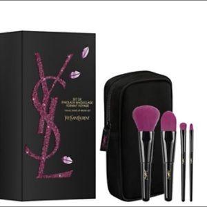 New YSL Mini Travel Makeup Brush Set